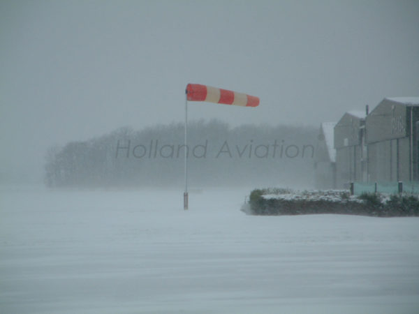 HA 120 RG Windsock Installation unlighted in winter