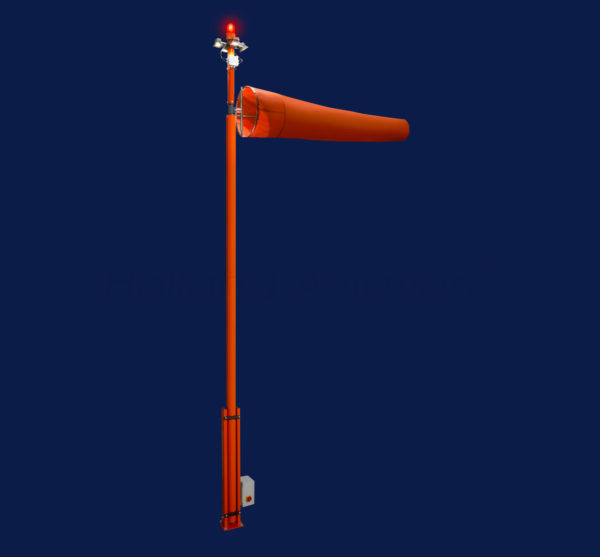 HA 80 L807 Windsock Installation double lighted FAA night productphoto