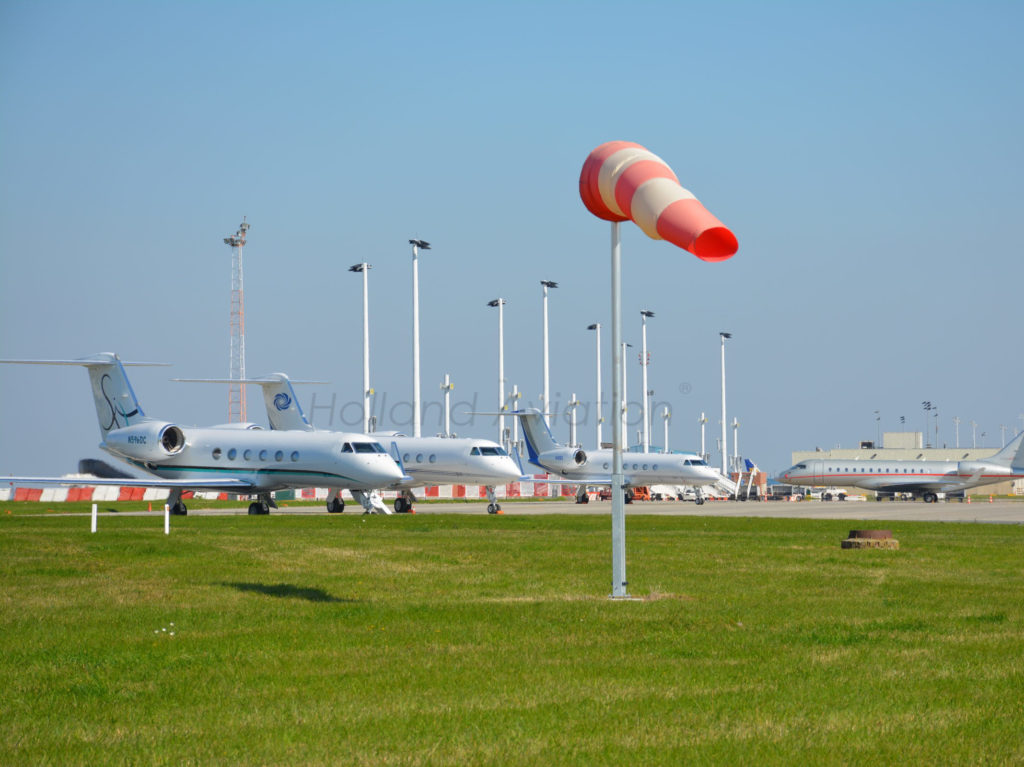 Aviation windsock at a landing strip