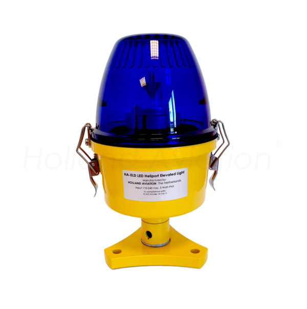 HA-ELD LED heliport elevated light blue glass