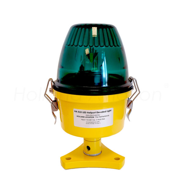 HA-ELD LED heliport elevated light green glass