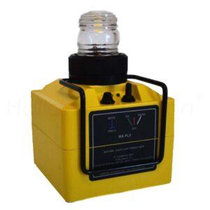 HA PL5 Portable Light Geel Met Anthenne Fotograaf Watermerk