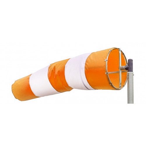 windsock orange white product photo by holland aviation