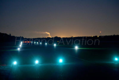 Landing strip with airport lights from Holland Aviation.