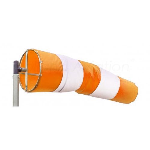 Windsock orange white stripes