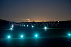 Landing strip with airport lights from Holland Aviation